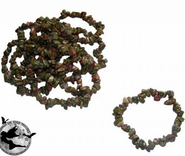 UNAKITE Crystal Chip Gemstone Bracelet
